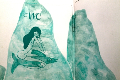Mural en Moraima, por Lara Costafreda