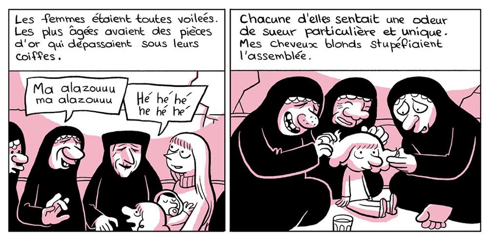 """Vinyeta de l'edició francesa de """"L'àrab del futur"""" de Riad Sattouf."""