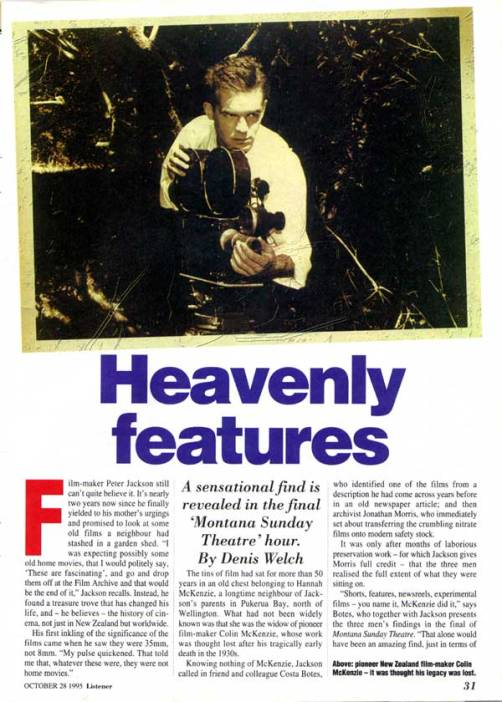 Heavenly features - Forgotten Silver