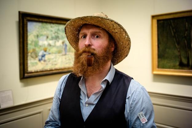Walter DeForest caracterizado como Van Gogh