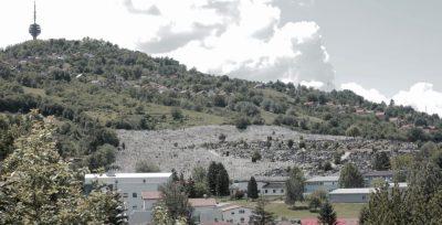 Montaña de Sarajevo con tumbas